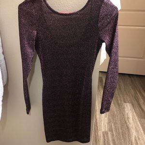 H&M Purple Mini Cocktail Dress